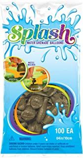 Pioneer Balloons 82181 Splash Water Grenade Balloons, 4-Inch, Army Green