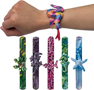 Illinois Industrial Tool Great Lakes Wholesale (6 Pack) Assorted Animal Slap Bracelets for Kids Party Favors Bulk Toys for Boys Girls