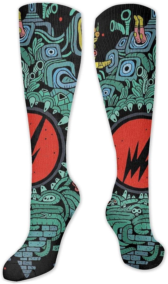 Flying Lotus Knee High Socks Leg Warmer Dresses Long Boot Stockings For Womens Cosplay Daily Wear