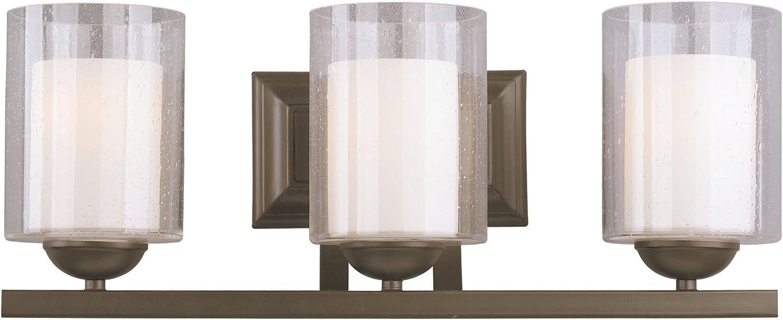 Woodbridge Lighting 53113-BRZ 3-Light Cosmo Bath Light, Bronze