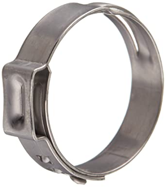Pack of 50 Oetiker 16700040 Stepless Ear Clamp One Ear Closed Clamp ID Range 28.4 mm Open - 31.6 mm 7 mm Band Width