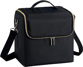 جعبه لوازم آرایشی Stagiant Extra Large Soft Train کیف کیف پالت جیبی کیف مسافرتی جعبه ناخن کیف با بند حمل گل رز زیپ زیورآلات صندوق نگهدارنده لوازم آرایش برای برس آرایش جواهرات لوازم آرایش