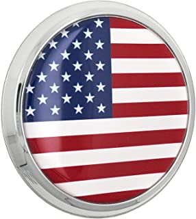 Fan Emblems US American Flag 3D Car Emblem Domed/Multicolor/Chrome, Automotive Sticker Decal Badge Flexes to Fully Adhere to Cars, Trucks, Motorcycles, Laptops, Windows, Almost Anything