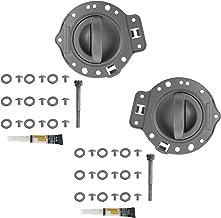 Door Handle & Bezel Repair Kit Gray Front or Rear Pair Set for 06-10 Commander