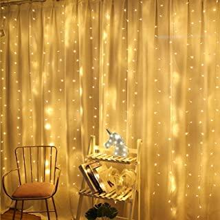 String lights for Window Curtain, 3 * 3M 300 LED Fairy Twinkle Starry Decorative Light Ramadan Gift for Indoor Outdoor Wed...