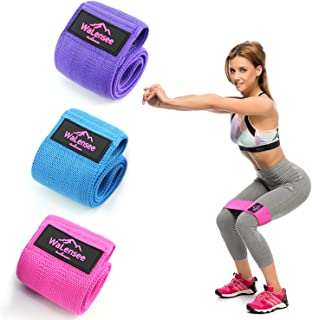 Walensee Hip Bands, Leg Bands, Resistance Bands Non Slip, Hip Bands for Workout Squats, Butt, Legs, Thigh and Hip Workout, Glute Bands,Hip Sling, Soft Design Bands