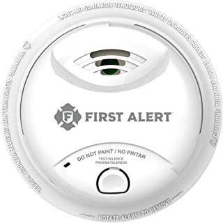 First Alert 10-Year Ionization sensor Smoke Alarm, 0827B, White