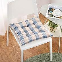 Chair Cover, Soft Stripe Chair Pads,Cotton Chair Cushion Ties Non-Slip Square Tatami Seat pad Patio Office Home Car Sittin...
