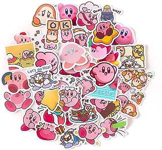 40pcs Lovely Cartoon Kirby Star Stickers Decorative Sticker Collection for Scrapbooking, Calendars, Arts, Kids, Teens, DIY...