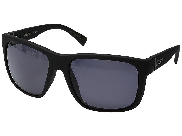 VonZipper  Maxis Polar (Black Satin/Wild Vintage Grey Polar) Sport Sunglasses