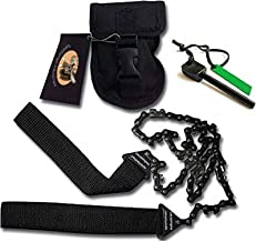 Sportsman Pocket Chainsaw 36 Inch Long Chain Best Compact Folding Hand Saw Tool for Your Survival Gear, Camping, Hunting, Tree Cutting or Emergency Kit. Replaces Your Pruning & Pole Saw