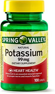 Spring Valley Potassium 99 mg from Potassium Gluconate 595 mg (100 Count)