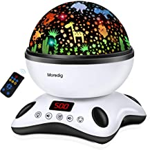 Moredig Night Light Projector Remote Control and Timer Design Projection lamp, Built-in 12 Light Songs 360 Degree Rotating...