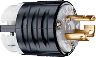 Legrand - Pass & Seymour PSL515PCCV3 Turn Lock Locking Device Plug 15-Amp 125-volt L5-15R, Black Back, White Front