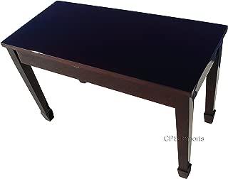 Mahogany Wood Top Grand Piano Bench Stool with Music Storage