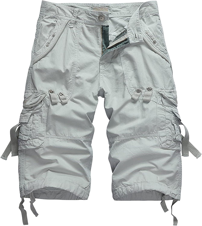Shorts for Men Linen Casual Buttons Lacing Waist Pockets Short Pants Summer Casual Loose Lightweight Sports Shorts