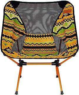 SADVA アウトドアチェア 折りたたみ椅子 コンパクト椅子 超軽量 耐荷重150kg 専用ケース付き 簡単に収納 ウルトラライトチェア お釣り 登山 携帯便利 キャンプ バーベキュー (Color : イエロー)