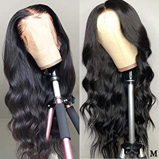 Transparent Lace Wig Body Wave 13x4 13x6 Lace Front Human Hair Wigs Pre Plucked Remy Brazilian Lace Front Wig,Medium Brown Lace 13x4 lace front wig,20inches