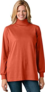 Women's Plus Size Perfect Long-Sleeve Turtleneck Tee Shirt