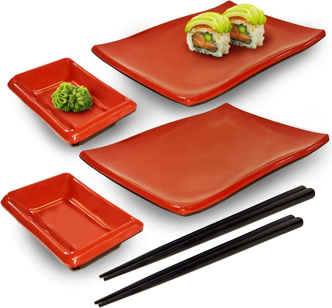 Happy Sales HSMSP-REDBLK Japanese San Francisco Mall Style Piece S Perfect Sushi 6 Ranking TOP2