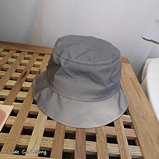 TUOLUO, Night Run Gorra De Béisbol Resplandeciente Sombrero De Pescador Reflectante Masculino Sombrero De Copa Vacío Vacío De Padre a Hijo Protector Solar Sombrero De Cubo Ajustable/Gris