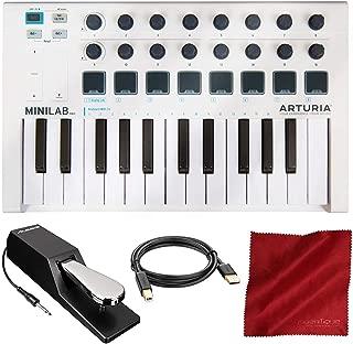Arturia MiniLab MK II Portable Universal 25 Slim-Key USB-MIDI Controller with Accessory Bundle