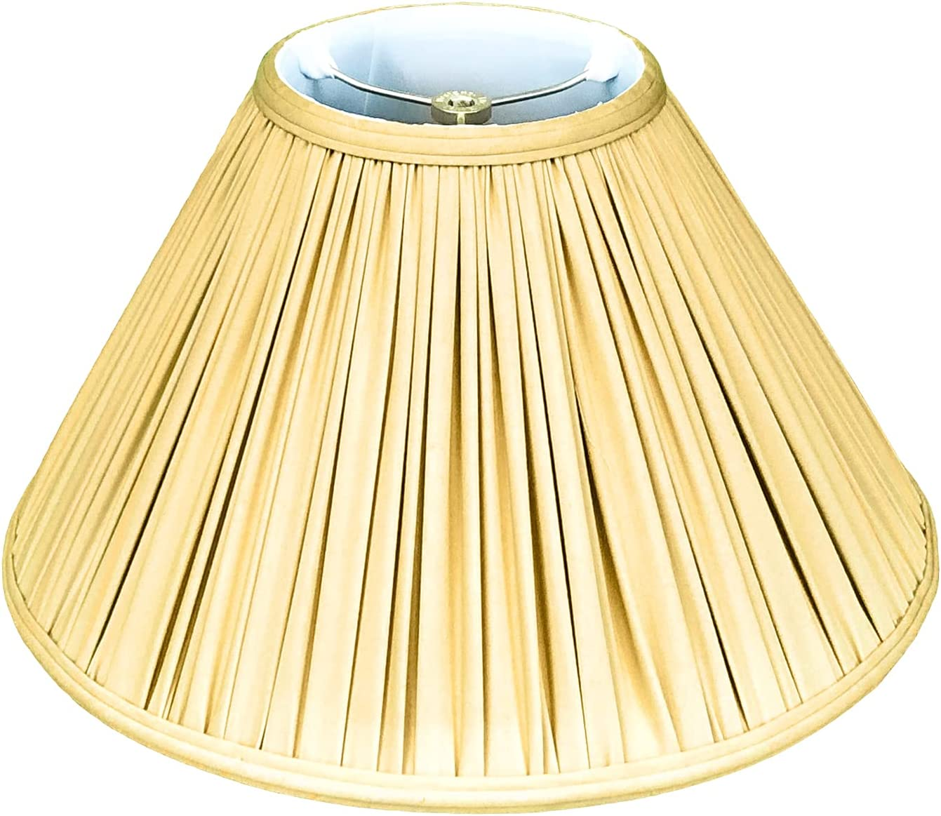 A surprise price is realized Royal Designs Coolie Empire Gather Pleat Lamp Basic Today's only Shade Antiq