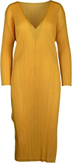 PLEATS PLEASE ISSEY MIYAKE Luxury Fashion Womens PP06JH12651 Yellow Dress | Spring Summer 20