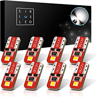 SiriusLED Red Dragon Series Ultra Compact Extremely Bright Double Sided 3030 SMD 400 Lumen Auto LED Interior Light Bulbs Size 194 168 2825 Pure White Pack of 8