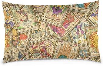 Mydaily Tarot Cards Vintage Throw Pillow Case Cotton Velvet Rectangular Cushion Cover 20x30 inch