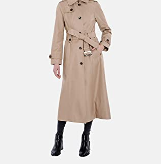London Fog Womens Single-Breasted Trench Coat with Belt Raincoat