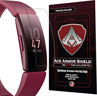 Ace Armor Shield (8 Pack) Premium HD Scratch Resistant Screen Protector Compatible with Fitbit Inspire/Fitbit Inspire HR