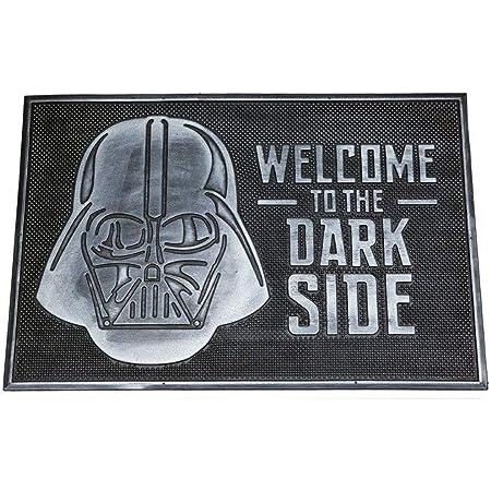 Pyramid International Zerbino in gomma Star Wars Welcome to Dark Side, nero, 40 x 60 cm