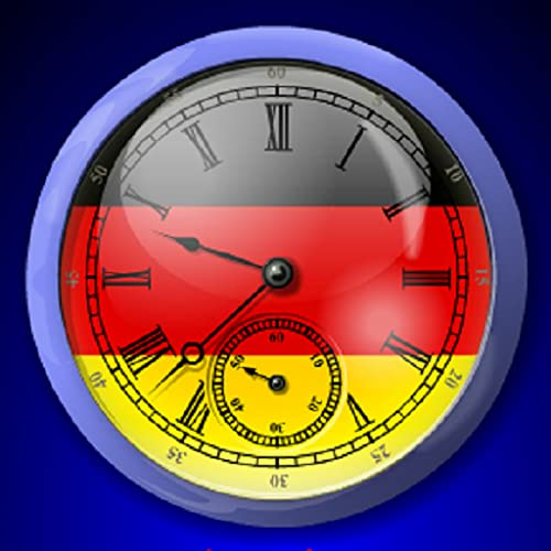 German Flag Alarm Clock *With Sticky Notes. Easy Set Up. Tap Red Numbers to Set Alarm*