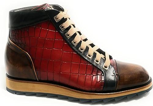 Harris - botas de Cuero para Hombre rojo Lino azul