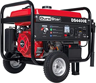 Durostar DS4400E Gas Powered Portable Generator-4400 Watt Electric Start-Camping & RV Ready, 50 State Approved, Red