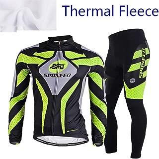 sponeed Men's Cycling Jersey Full Sleeve Riding Wear Long Sleeve T Shirts Pants