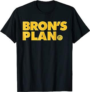Bron's Plan Funny Basketball t-shirt