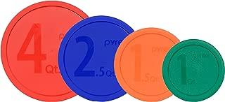 Pyrex MIXING BOWL LID Set: (1) 326-PC Red, (1) 325-PC Blue, (1) 323-PC Orange, (1) 322-PC Green