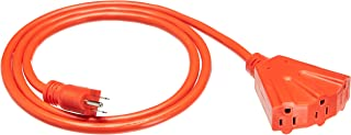 AmazonBasics 12/3 Outdoor Extension Cord with 3 Outlets, Orange, 6 Foot