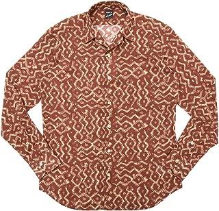 [バグッタ] ウォッシュドコットンエスニックプリントオープンカラーシャツ JOHNNY GLR/09089 11091004054