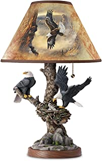 Lamp: Treetop Majesty Bald Eagle Lamp by The Bradford Exchange