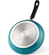 Cook N Home Nonstick Saute Skillet with Nonstick Coating,Induction Compatible, 8-inch,Turquoise