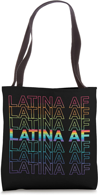 LATINA AF LGBT Gay Pride Flag Rainbow Chingona Tote Bag