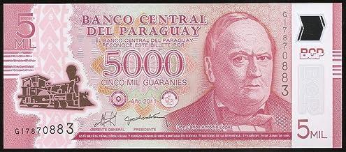 Paraguay 5 Mil Polymer Note @ arunrajsofia