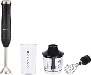 AmazonBasics Multi-Speed Immersion Hand Blender with Attachments - Black