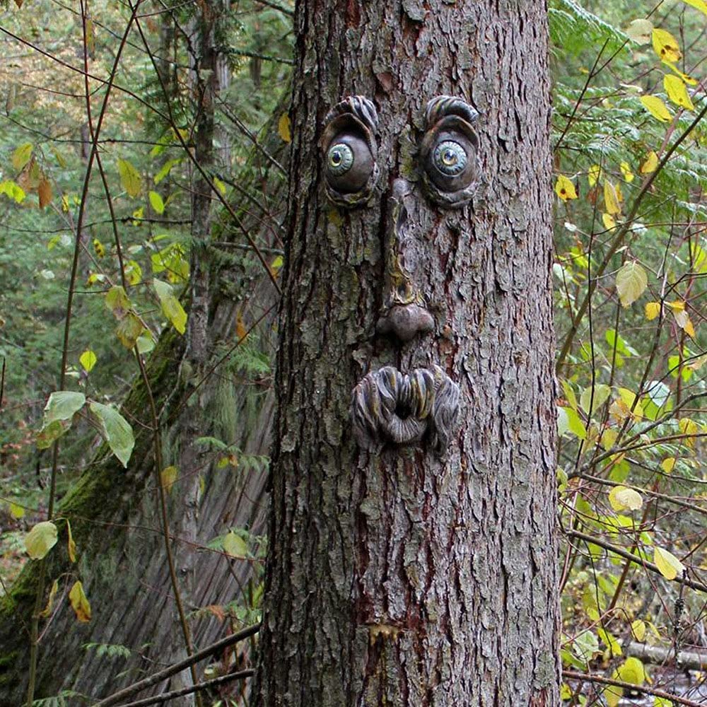 Quantity limited EIIORPO Tree Faces Decor Outdoor Direct store Old Statues Face M
