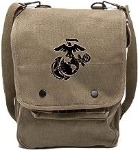 Army Force Gear U.S. Marine Corps Semper Fidelis Canvas Crossbody Travel Map Bag Case