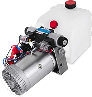 VEVOR 4.5L Double Acting Single Solenoid Hydraulic Pump Power Pack 12V DC with Plastic Tank Hydraulic Power Supply Unit Car Lift