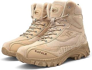 AUTOECHO Desert Boots - Chaussures De Combat De Commando pour Hommes De L'armée, Chaussures De Randonnée en Plein Air pour...